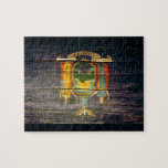 Madera vieja de la bandera de Nueva York Puzzles Con Fotos