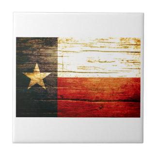 Madera vieja de la bandera de Tejas