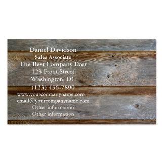 Madera vieja de la puerta de granero plantillas de tarjeta de negocio