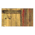 Madera vieja del granero tarjetas de visita