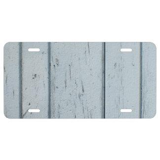 madera vieja gris placa de matrícula