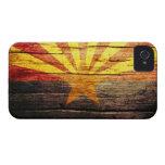 Madera vieja rústica de Arizona iPhone 4 Carcasas