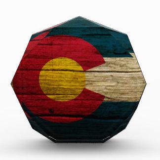 Madera vieja rústica de la bandera de Colorado