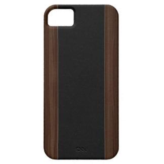 Madera y caja oscuras del iPhone 5 de la raya de l iPhone 5 Case-Mate Protector