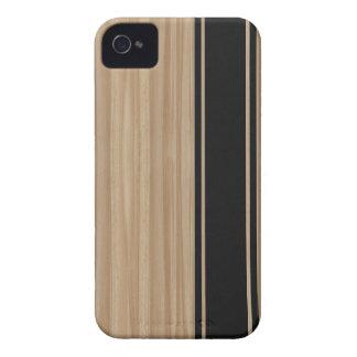 Madera y caso del iPhone 4 de la raya de la fibra iPhone 4 Carcasa