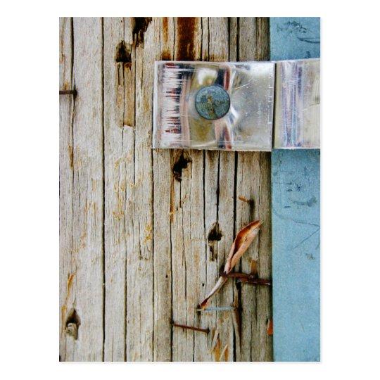 Madera y metal - polo de teléfono tarjeta postal