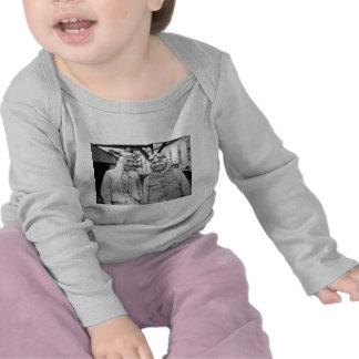 Madera y Orlin Johnson - vintage del lepisosteus Camisetas