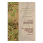 Madera y recaudador de fondos floral o corporativo invitación 12,7 x 17,8 cm