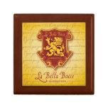 madera y teja Giftbox de Bella Bocce del la Cajas De Joyas