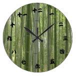 Maderas de bambú, kanji japonés reloj