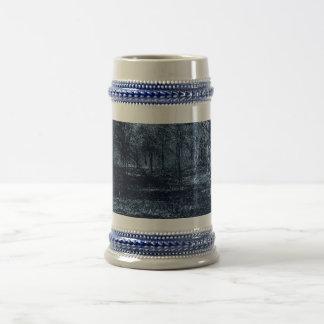 maderas de la luna azul jarra de cerveza