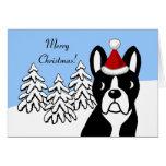Maderas de la nieve del dibujo animado del navidad tarjeta