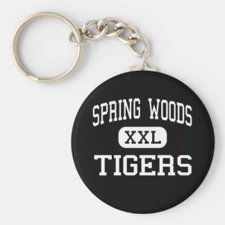 Maderas de la primavera - tigres - altas - Houston Llavero Redondo Tipo Pin