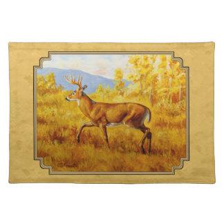 Maderas de oro de Aspen del venado de cola blanca Mantel Individual