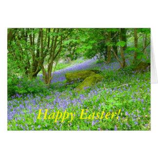 ¡Maderas del Bluebell, Pascua feliz! Tarjeta De Felicitación