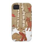 Maderas del invierno Case-Mate iPhone 4 carcasa