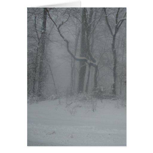 Maderas del invierno felicitación
