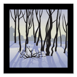 Maderas del invierno poster