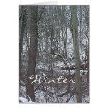 Maderas del invierno tarjeta de felicitación