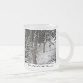 Maderas del invierno taza de cristal