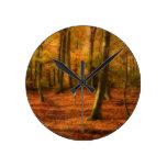 Maderas del otoño relojes de pared