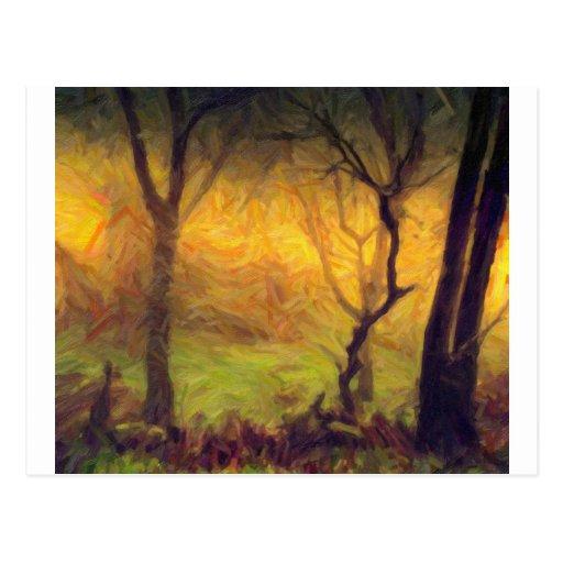 maderas místicas 2 postal