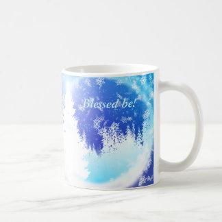 Maderas místicas taza básica blanca