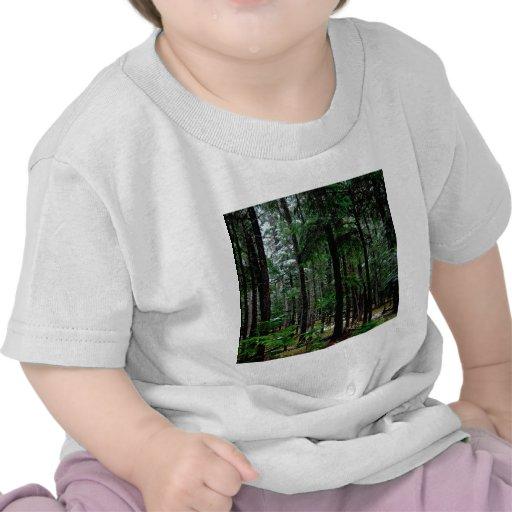 Maderas penosas del árbol camiseta
