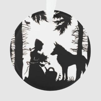 Maderas rojas del lobo de la capa con capucha de l