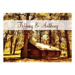Maderas rústicas de la cabaña de madera del país q