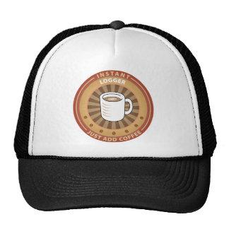 Maderero inmediato gorras
