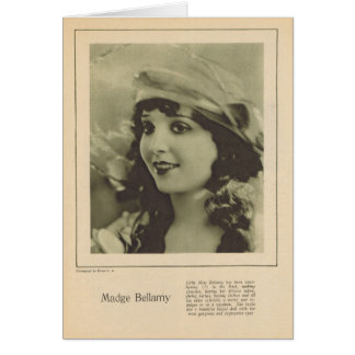 Madge Bellamy 1923 Greeting Card