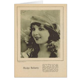 Madge Bellamy 1923 Tarjeta De Felicitación