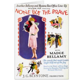 Madge Bellamy 1927 silent movie exhibitor ad Greeting Card