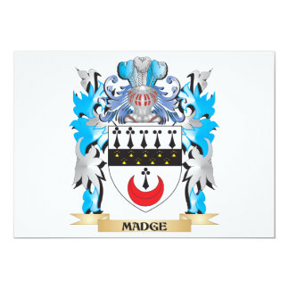 Madge Coat of Arms - Family Crest 5x7 Paper Invitation Card