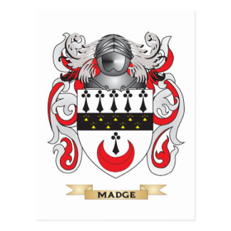 Madge Coat of Arms (Family Crest) Postcard