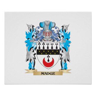 Madge Coat of Arms - Family Crest Poster