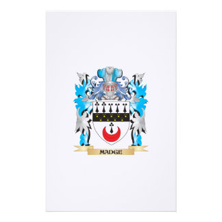Madge Coat of Arms - Family Crest Custom Stationery