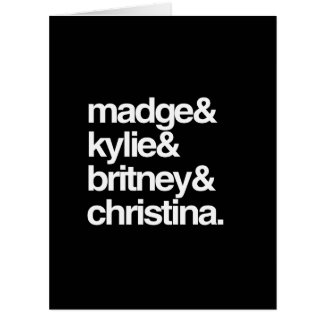 Madge Kylie Britney and Christina Large Greeting Card