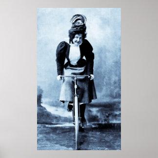 Madge Lessing 1902 - vintage ciánico Póster
