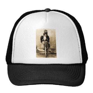 Madge Lessing on Bike Vintage 1902 Trucker Hat