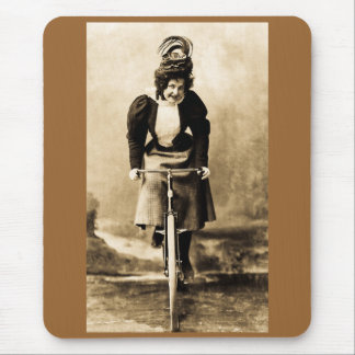 Madge Lessing on Bike Vintage 1902 Mouse Pad
