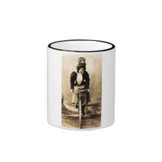 Madge Lessing on Bike Vintage 1902 Mugs