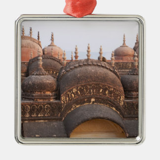 Madhavendra Palace at sunset, Jaipur Square Metal Christmas Ornament