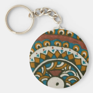 Madhubani Peacock Keychain