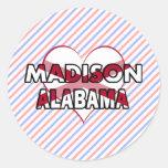 Madison, Alabama Etiqueta Redonda