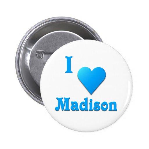 Madison -- Azul de cielo Pin Redondo 5 Cm