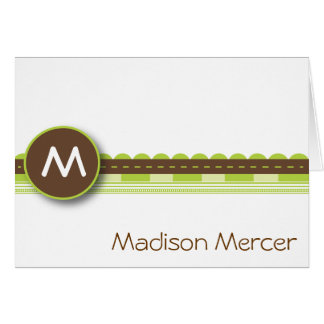 Madison - Brown and Green Card