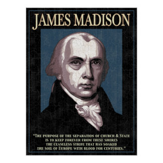 Madison - Church & State Poster