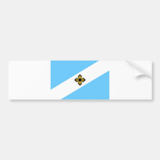 Madison city flag  Wisconsin state America country Car Bumper Sticker